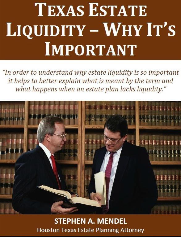 Texas Estate Liquidity - Why It's Important