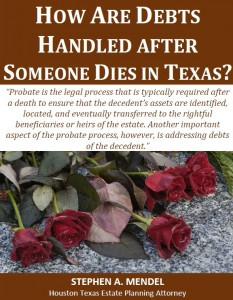How Are Debts Handled After Someone Dies in Texas