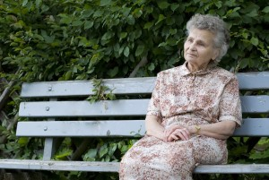 Elderly woman contemplating elder law