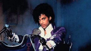 Prince on a motorcycle