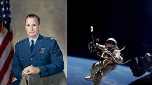 Ed White, walking in space