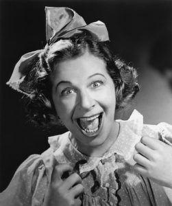 Fanny Brice as her character, Baby Snooks