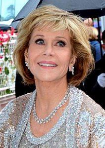 Pictured, Jane Fonda
