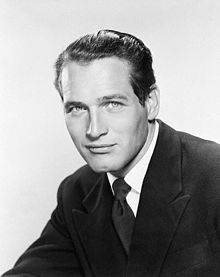 Young Paul Newman Black-White