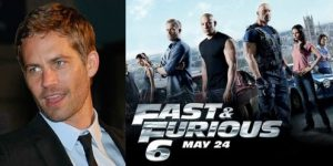 Paul Walker Fast Furious 6 Poster