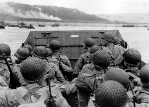 US assault troops arrive at Omaha Beach, June 6th 1944